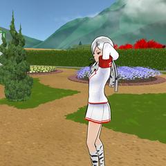 Shiromi patrolling the Gardening Club.