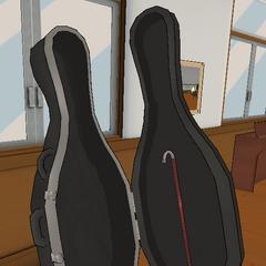 A crowbar inside a cello case. April 28th, 2018.