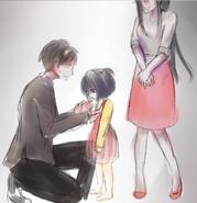 Ayano z rodzicami