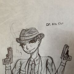 My first time succeeding in drawing Dr. Clef