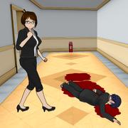 Nauczycielka pilnująca ciała ucznia