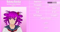 Kokona Haruka Profile July 1st 2020