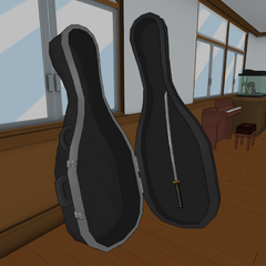 The katana inside the cello case. December 2nd, 2016.