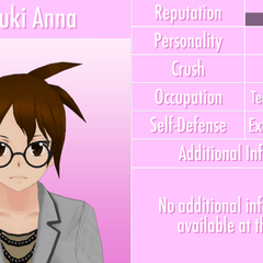 Natsuki's 9th profile. June 3rd, 2016 (text outline fixed).