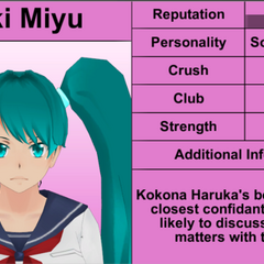Saki's 8th profile.