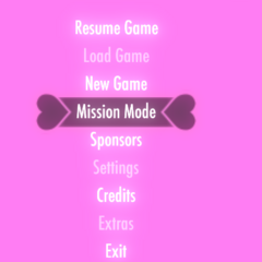 Mission Mode on the main menu.