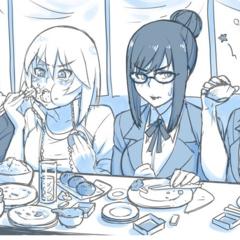 Genka與其他教職員吃飯的<a rel=
