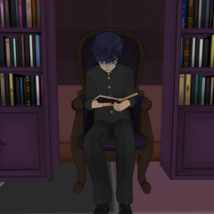 Shin reading in the Occult Club. July 24th, 2016.