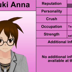 Natsuki Anna's 7th profile (bugged). March 31st, 2016.