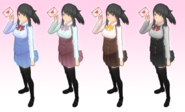 Kolorystyka mundurków Yandere-chan