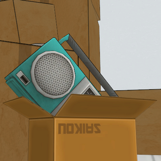 The radio in the incinerator area. March 15th, 2018.