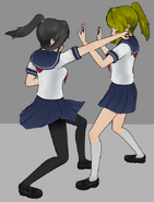 Ayano zabijająca żółtą licealistkę 22-9-14