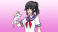 Yandere-chan z kotkiem w July Progress Report
