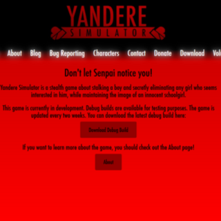 A dark red version of the website. Currently removed.