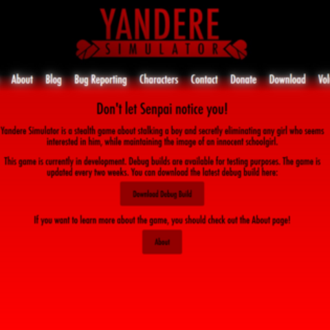 The dark red website.