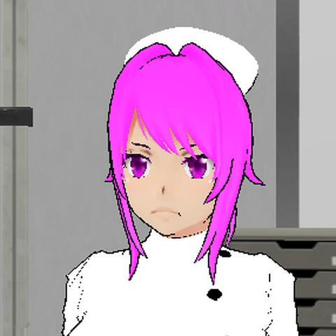A antiga aparência da Enfermeira em atualizações antigas.