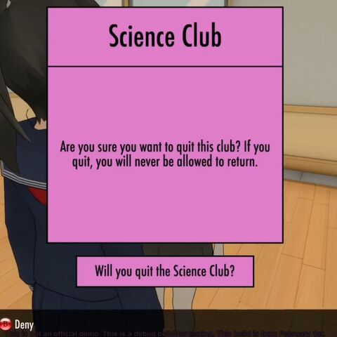 Leaving the Science Club.
