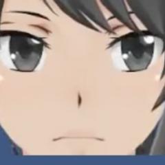 HUD do rosto de Yandere-chan com sanidade