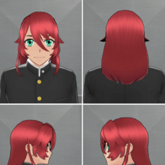 Kyuji's in-game hairstyle.