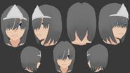 Model włosów duchy dziewczyny