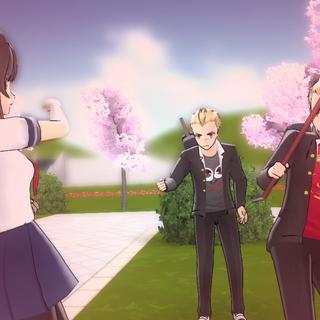Gaku dodging Ayano's attack.