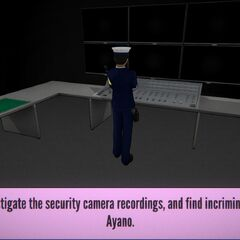 Ayano's suspicious behavior shown by security footage.