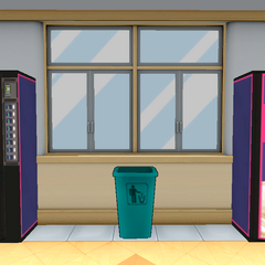 Two vending machines located on the <a href=