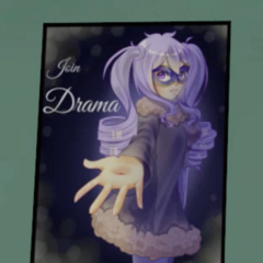 Poster for the Drama Club.