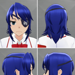 Aoi's in-game hairstyle.