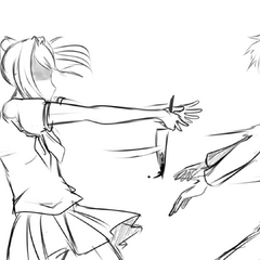 Yandere-chan throwing Senpai in the <a rel=