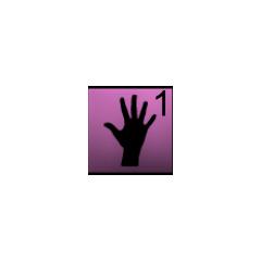 Hand inventory HUD.
