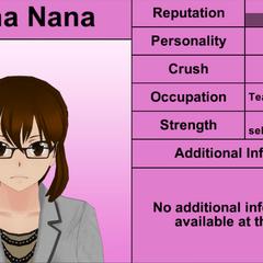 Reina Nana's 6th profile. April 4th, 2016.