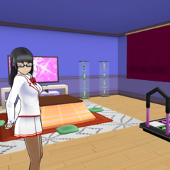 Kuroko patrolling the Gaming Club.