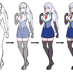 Megami Saikou usando el posible uniforme oficial