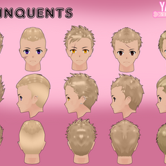 The delinquents' hair models by Qvajangel.