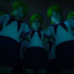 Midori in the Midori Forest Game Over screen.