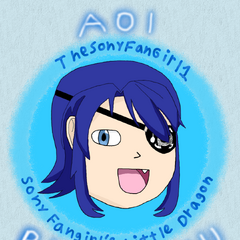 A super cute and happy styled drawing I made of Aoi Ryugoku!