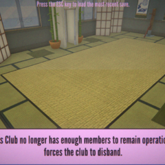 The Martial Arts Club has been disbanded.