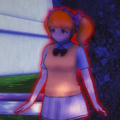 Rival-chan在病嬌視角中以紅色顯示