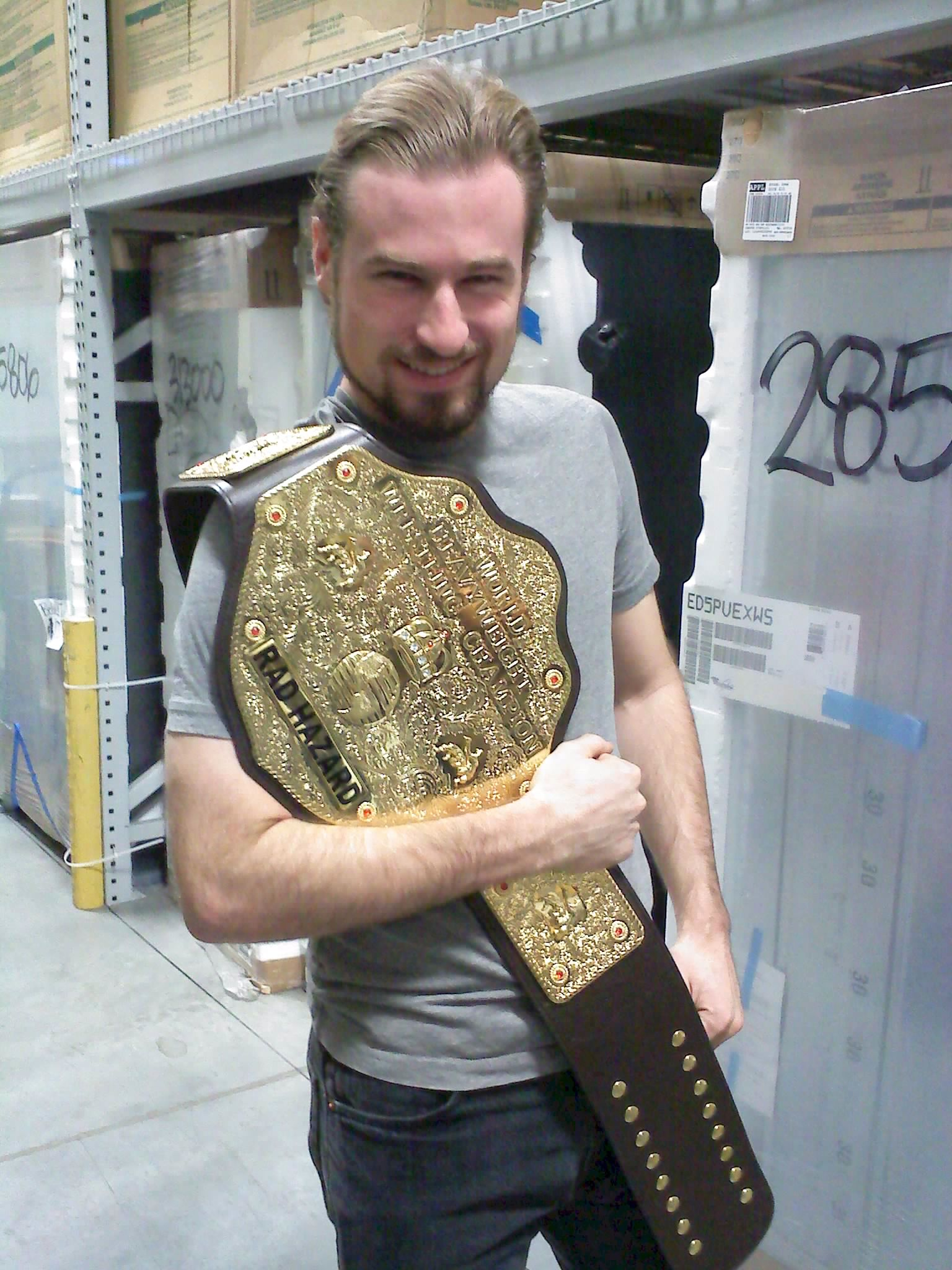 Rad Hazard Holding The Bbw World Championship Belt