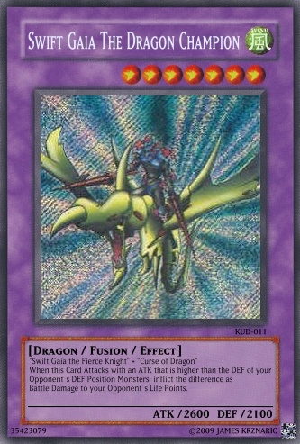 Swift Gaia The Dragon Champion | Yu-Gi-Oh Card Maker Wiki ...