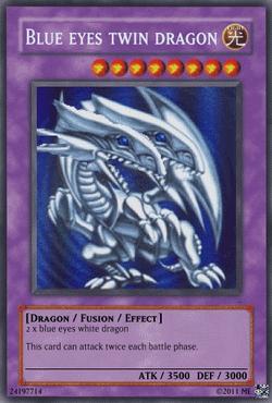 Blue Eyes Twin Dragon Card