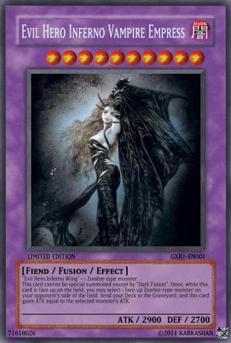 Evil Hero Inferno Vampire Empress Yu Gi Oh Card Maker