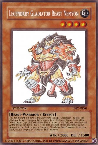 Legendary Gladiator Beast Nemyon | Yu-Gi-Oh Card Maker ...