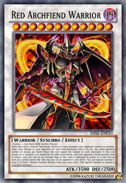 red archfiend warrior yu gi oh card maker wiki fandom powered by