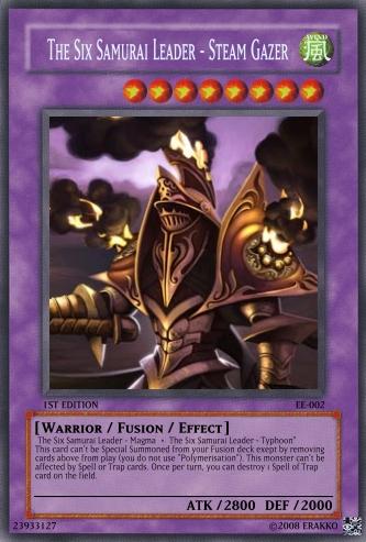 The Six Samurai Leader - Steam Gazer | Yu-Gi-Oh Card Maker