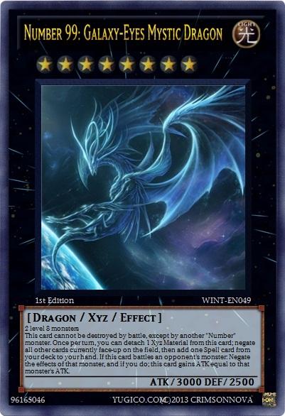 Yugioh Number 99 Universe Dragon Number 99: Galaxy-Eyes...