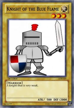 Knight of the Blue Flame card