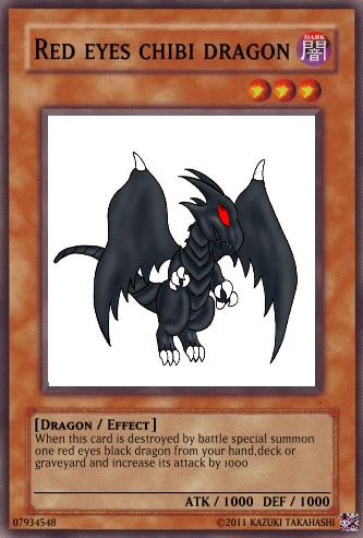Red Eyes Chibi Dragon Yu Gi Oh Card Maker Wiki Fandom