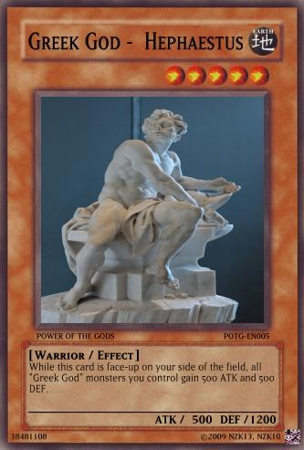 Greek God - Hephaestus | Yu-Gi-Oh Card Maker Wiki | FANDOM ...